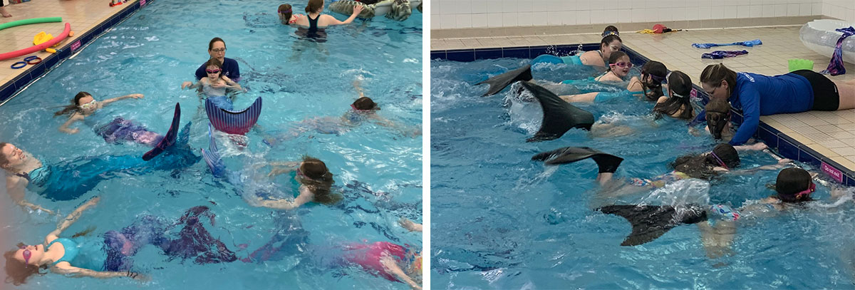 Mermaid swimming lessons in Bath